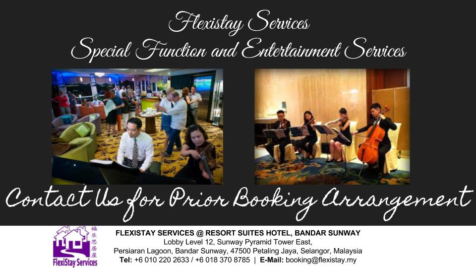 Flexistay Services - Special Function and Entertainment Services